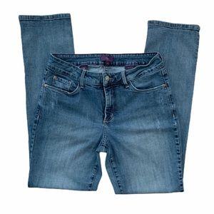 NYDJ Boyfriend Distressed Skinny Jeans Size 6